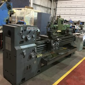 20″ x  80″ SIRCO PA 20 GAP BED ENGINE LATHE WITH 2.125″ SPINDLE HOLE