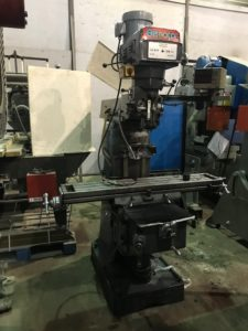 3 HP BEMATO VARIABLE SPEED TURRET MILLING MACHINE WITH 2 AXIS DRO