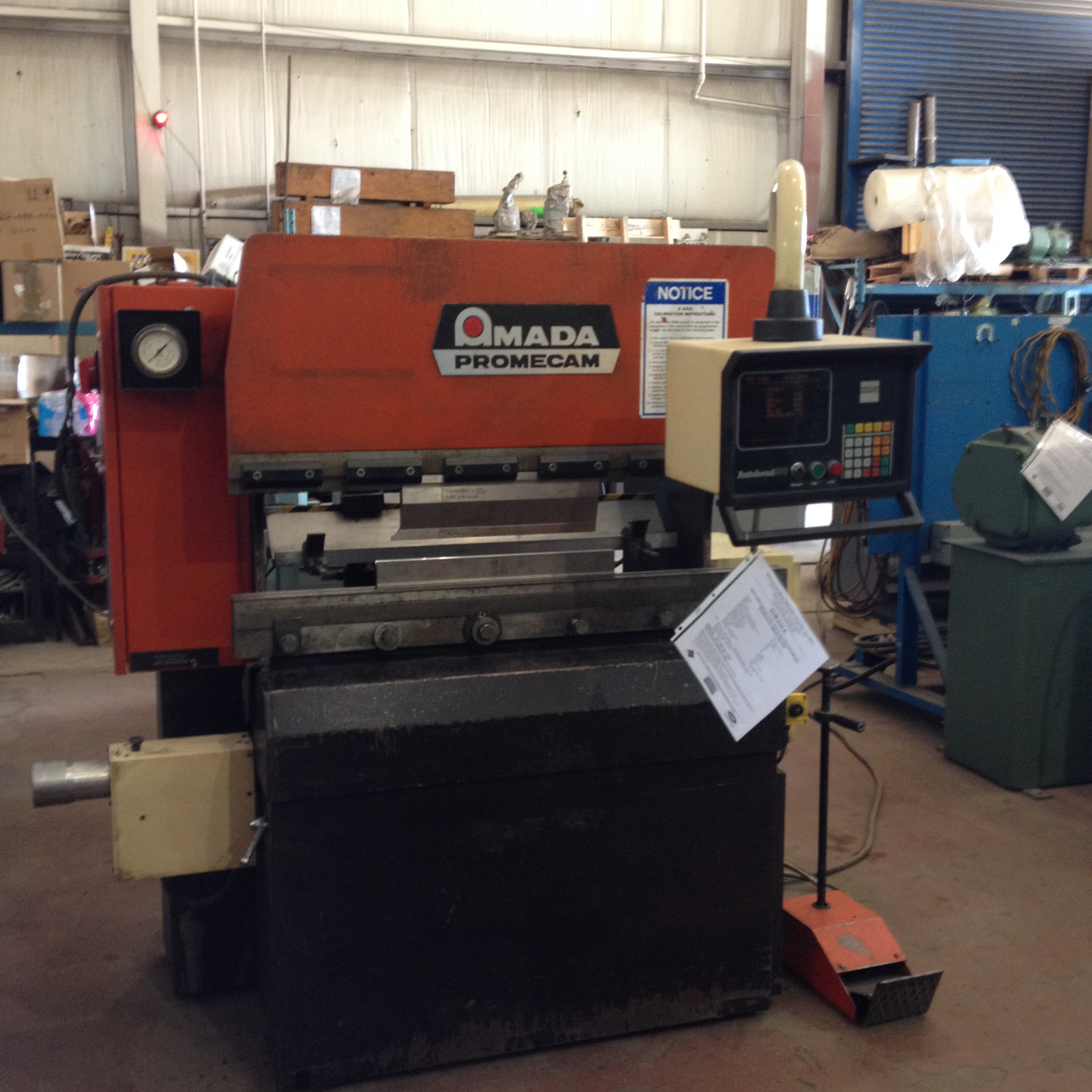 A - SMS - Stock - Brake Press, Amada, 4 Ft x 30 Ton ...